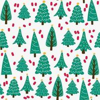 Christmas tree green, seamless pattern background. vector