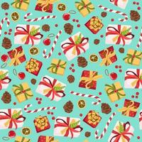 seamless pattern background with Gift box vector