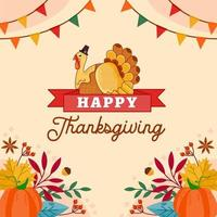 Thanksgiving day. Logo, text design. Typography for greeting cards and posters. Give thanks. vector