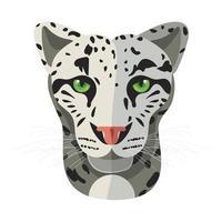 Wild cat, irbis, leopard, snow bars vector