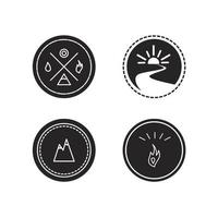 Vector set of ecology logotypes