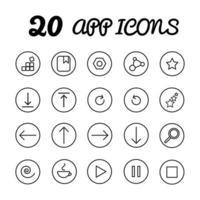 App icons set vector