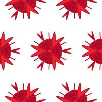 Seamless vector abstract red pattern in eps