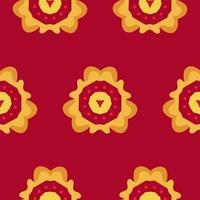 Flower vector seamless pattern
