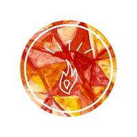 Watercolor logo of fire and bonfire vector