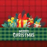 Card design with merry christmas icons vector
