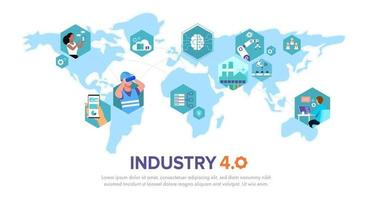 Cyber Physical Systems concept Infographic of industry 4.0. vector