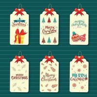 Christmas tag banner vector