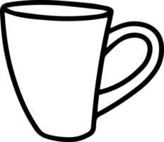 mug vector illustration in doodle style