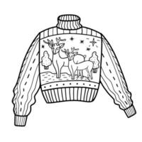 cute sweater. vector illustration in doodle style