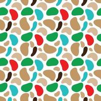 Minimalist camouflage pattern with multicolored spots of various shapes. Vector illustration