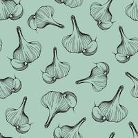 patrón de ajo sin costuras. ilustración vectorial vector