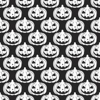 Seamless Pattern of white pumpkin Silhouette on a black background. Vector illustration.Design for paper products, textiles, printing, banners