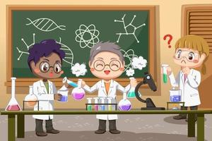 Group of Scientists At Work In Lab Office vector