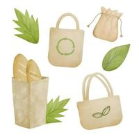 Packaging to help save the planet and reduce waste vector