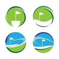 Golf logo vector icon