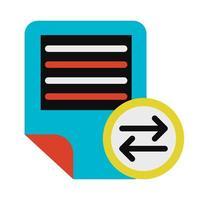 Text documents exchanging symbol glyph vector illustration