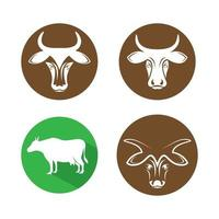 Cow logo images illustration vector