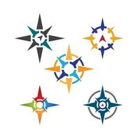 Compass logo images vector