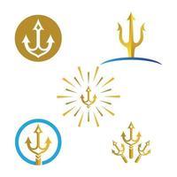 Trident logo images illustration vector