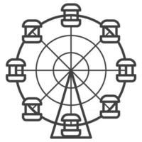 Ferris wheel Vector Icon. Element for amusement park products. Monochrome outline illustration
