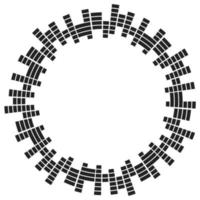Abstract circular equalizer. Eq round audio soundwaves. Graphic equalizer. Frame. Vector illustration