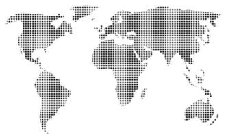 Dotted world map. Vector template for website, infographics, design. Flat illustration