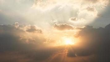 fondo de puesta de sol de nube foto