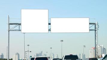 Banner empty on highway. photo