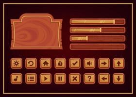 Design for Complete set of score and power button game pop-up vector