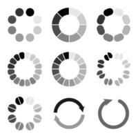 conjunto de icono de carga diferente vector