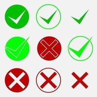 Check marks vector icon illustration buttons