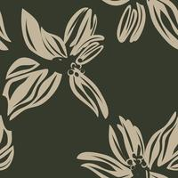 Green Botanical Floral Seamless Pattern Background vector