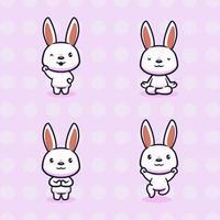 Cute rabbit design illustration vector