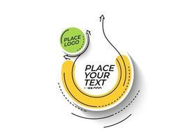 promoción lineal plana pancarta de formas geométricas, desplazamiento, pegatina, insignia, etiqueta de precio, cartel. vector