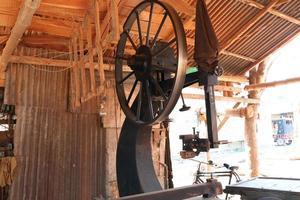 sawmill machine closeup on mill photo
