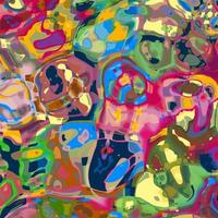 Green Pink Abstract Mash Up Pattern vector