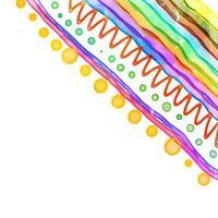 Striped Watercolor Page Border Decor vector