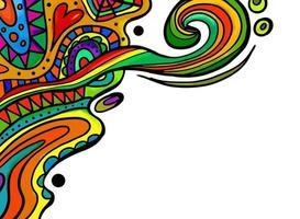 Doodle Border Flourish Decor vector