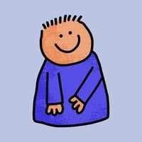 Happy Doodle Character Portrait vector