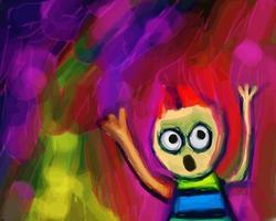 Funny Screaming Boy Doodle vector