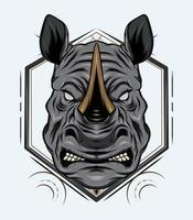 vector rhino mascot design