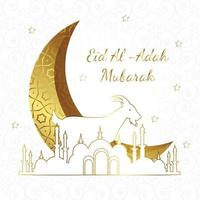 Poster of Eid al-Adah Mubarak vector