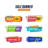 Modern big Sale Banner discount only today off for Business promotion,colorful fun Poster and flyer template. Vector set collection