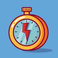deadline concept symbol isolated cartoon illustration vector