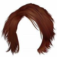 trendy woman disheveled hairs red  colors .  beauty fashion .  realistic 3d vector