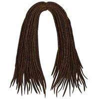 trendy african long  hair dreadlocks . realistic  3d . fashion beauty style .hairstyle wig vector