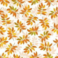 Vector seamless background of autumn leaves. Background for textile or book covers, wallpaper, design, graphics, printing and hobby.