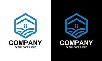 Real Estate, Property and Construction Logo Design for business company sign. Vector Logo.