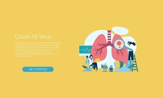 Pneumonia corona virus vector illustration design template background can be use for presentation web banner UI UX landing page